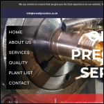 Screen shot of the Orwell Precision Services Ltd website.