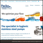 Screen shot of the Packo Pumps website.