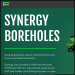 Screen shot of the Synergy Boreholes & Systems Ltd website.