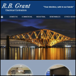 Screen shot of the RB Grant Electrical Contractors website.