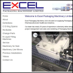 Screen shot of the Excel Packaging Machinery website.