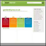 Screen shot of the Garden Thyme Ltd website.