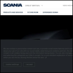 Screen shot of the Scania (Great Britain) Ltd website.