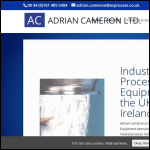 Screen shot of the Adrian Cameron Ltd website.