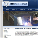 Screen shot of the HTF Stainless Steel Fabrication Ltd website.