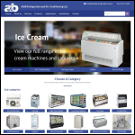 Screen shot of the A & B Refrigeration & Air Conditioning Ltd website.