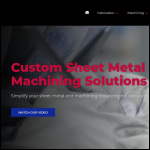 Screen shot of the KMF Precision Sheet Metal Ltd website.