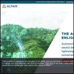 Screen shot of the Altair Engineering Ltd website.