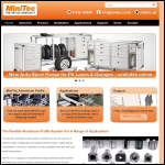 Screen shot of the MiniTec UK Ltd website.