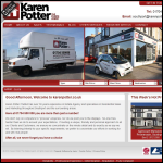 Screen shot of the Karen Potter the Estate Agent website.