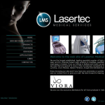 Screen shot of the Lasertec website.
