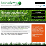 Screen shot of the Look Real Lawns website.