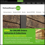 Screen shot of the RailwaySleepers.com website.