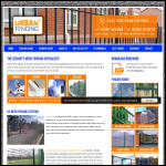 Screen shot of the Urban Fencing Ltd website.