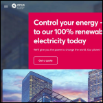 Screen shot of the Opus Energy Ltd website.