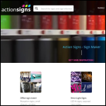 Screen shot of the Action Signs website.