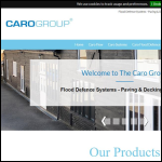 Screen shot of the Caro Group of Companies website.