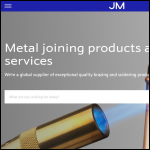 Screen shot of the Johnson Matthey Metal Joining website.