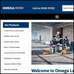 Screen shot of the Omega Laser Services website.