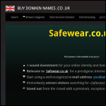 Screen shot of the Safewear Disposable Products Ltd website.