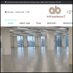 Screen shot of the A & B Installations Ltd website.