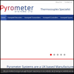 Screen shot of the Pyrometer Systems Ltd website.