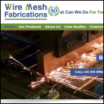 Screen shot of the Wire Mesh Fabrications Ltd website.