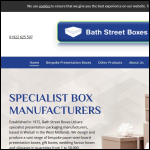 Screen shot of the Bath Street Boxes Ltd website.