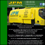 Screen shot of the J.P.M Contractors Ltd website.