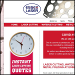 Screen shot of the Essex Laser Job Shop Ltd website.