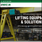 Screen shot of the Hoist UK Ltd website.