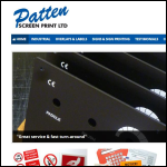 Screen shot of the Patten Screen Print Ltd website.