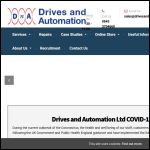 Screen shot of the Drives & Automation Ltd website.