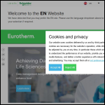 Screen shot of the Eurotherm by Schneider Electric website.