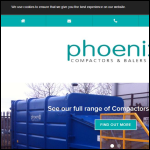 Screen shot of the Phoenix Compaction Systems Ltd website.