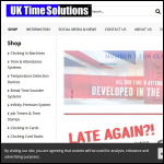 Screen shot of the North East Time Recorders Ltd website.