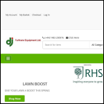 Screen shot of the D J Turfcare Equipment Ltd website.