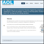 Screen shot of the AOL Engineering Ltd website.
