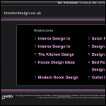 Screen shot of the Time for Design website.