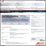 Screen shot of the Austrian Trade Commission website.