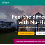 Screen shot of the NU-Heat UK Ltd website.