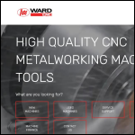 Screen shot of the T W Ward CNC Machinery Ltd website.