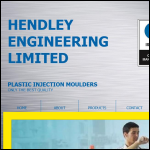 Screen shot of the Hendley Engineering Ltd website.