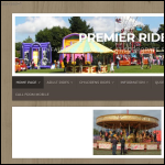 Screen shot of the Premier Rides website.