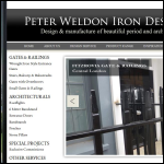 Screen shot of the Peter Weldon Iron Designs Ltd website.