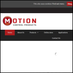 Screen shot of the Motion Control Products Ltd website.