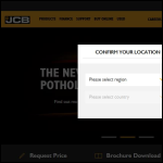 Screen shot of the JCB website.