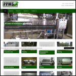 Screen shot of the Process & Packaging Machinery Services website.