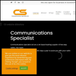 Screen shot of the Communication Specialists Ltd website.