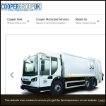 Screen shot of the Cooper Group UK website.